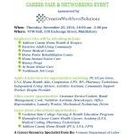 Health Care Industry Career Fair Nov 2014